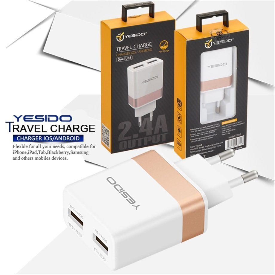 شارژر دیواری دو پورت یسیدو مدل YC-01