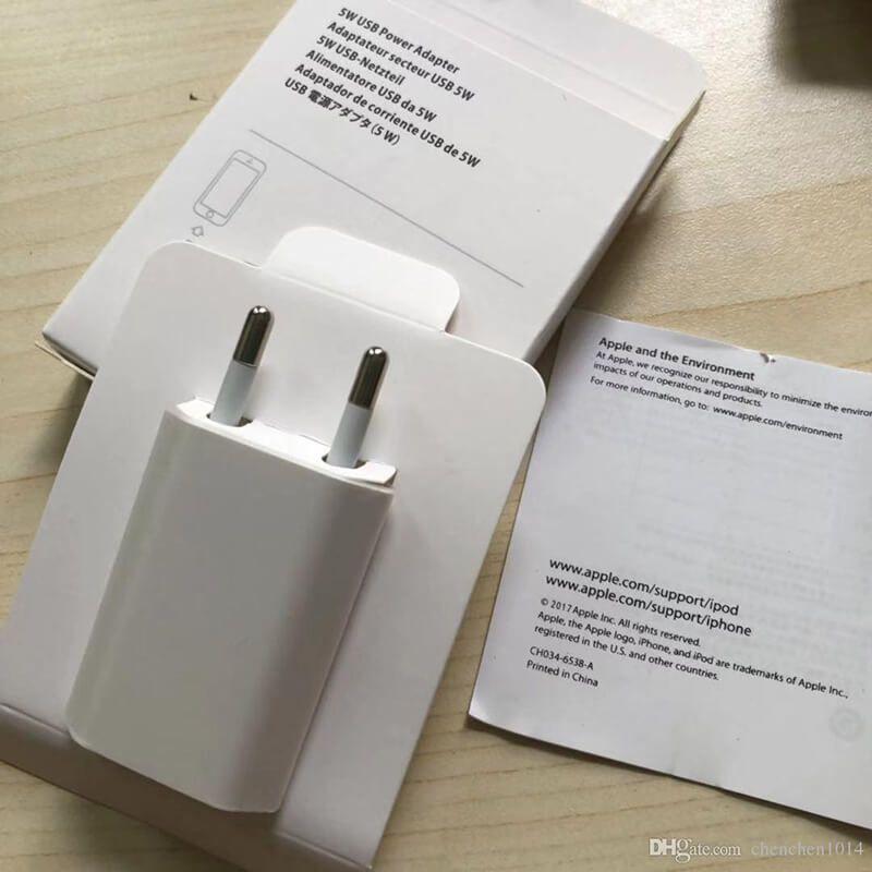 شارژر دیواری 5 وات اپل مدل A1400 اصلی (اورجینال اپل استور)