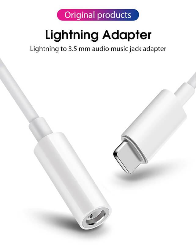 کابل تبدیل لایتنینگ به جک 3.5 میلیمتری  هدفون اپل اصلی (اورجینال اپل استور)