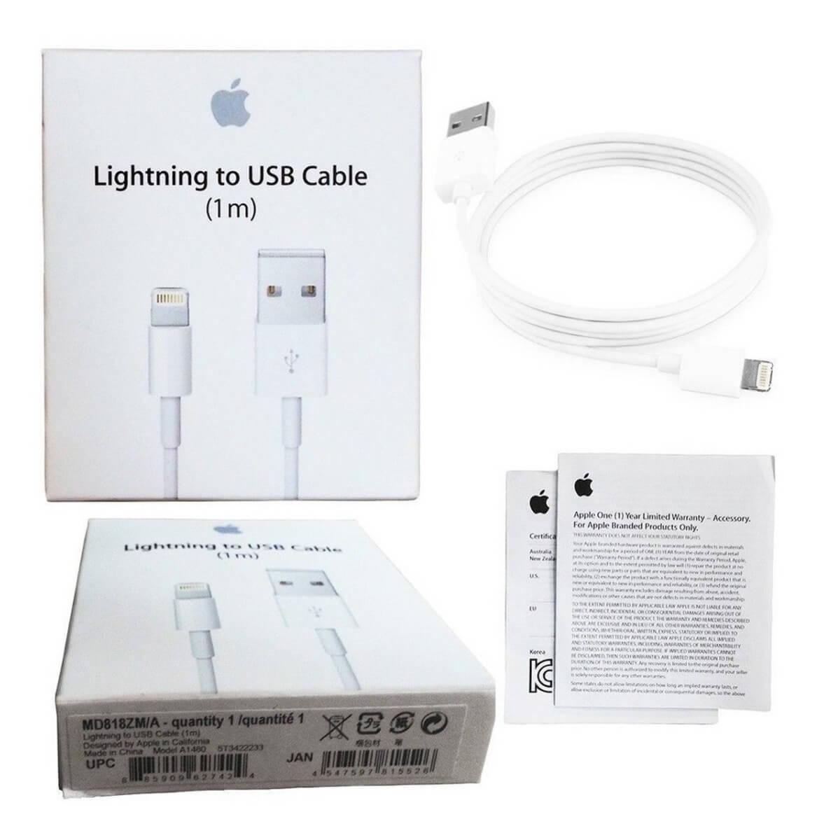 کابل شارژ (تبديل) USB به لايتنينگ اپل اصلی (اورجینال اپل استور)