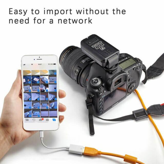 کابل تبدیل لایتنینگ به یو اس بی اپل برای اتصال به دوربین مدل A1440 اصلی (اورجینال اپل استور)