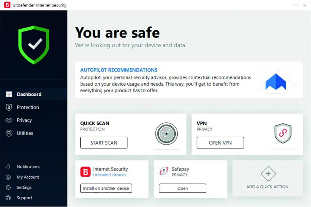 آنتی ویروس بیت دیفندر اینترنت سکیوریتی (لایسنس اورجینال)