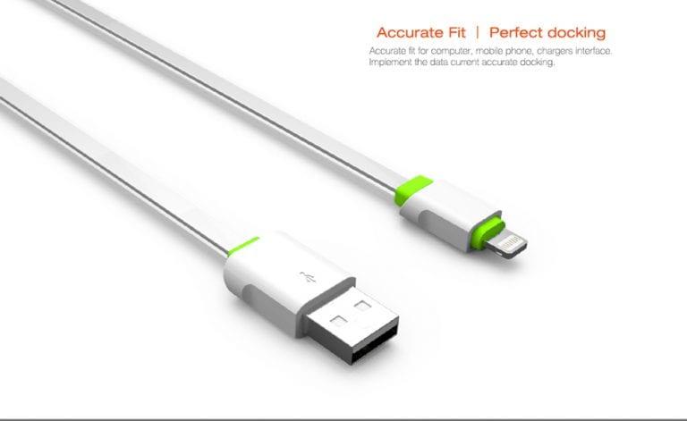 کابل شارژ (تبدیل) USB به لایتنینگ الدینیو مدل LS01 به طول 2 متر