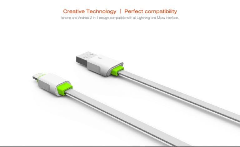 کابل تبدیل USB به لایتنینگ الدینیو مدل LS01 به طول 2 متر
