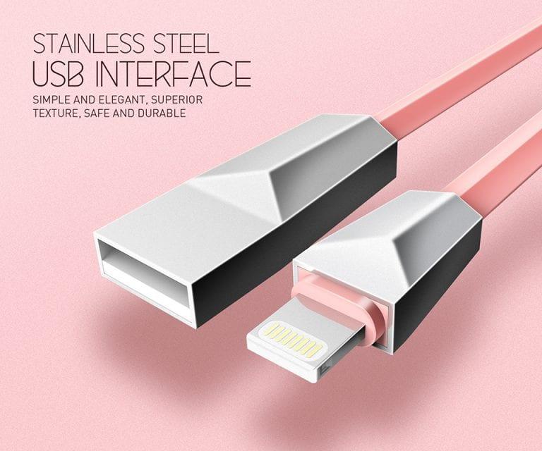 کابل تبدیل USB به لایتنینگ الدینیو مدل LS26 به طول 1 متر