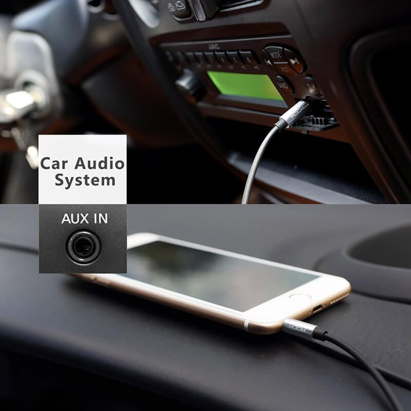 کابل انتقال صدا 3.5 میلی متر راک مدل RAU0509 برای اندروید و iOS به طول 1 متر