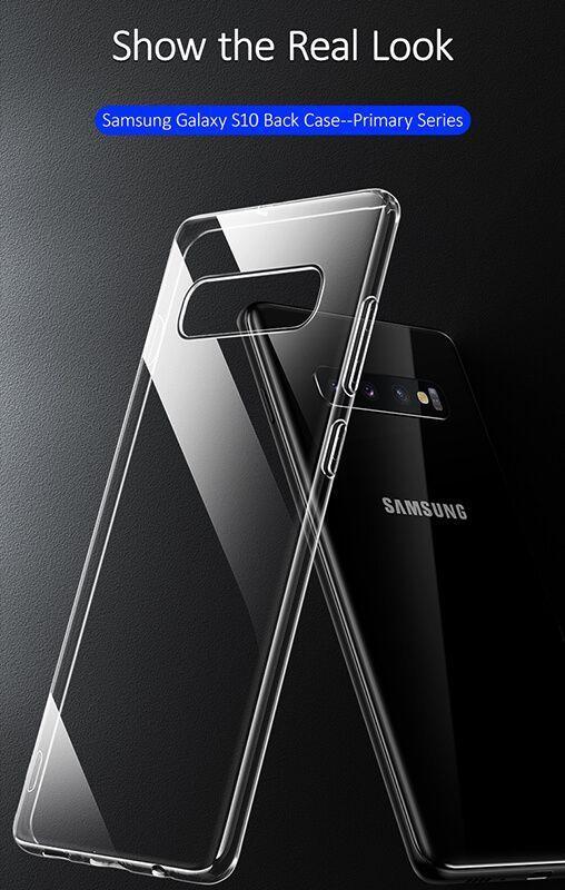 کاور شفاف یوسامز مدل Primary مناسب برای گوشی موبایل سامسونگ گلکسی S10 پلاس