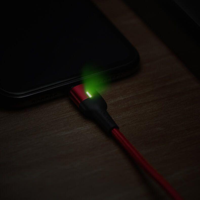 کابل شارژ (تبدیل) مغناطیسی USB به microUSB یوسامز مدل US-SJ328 به طول ۱ متر