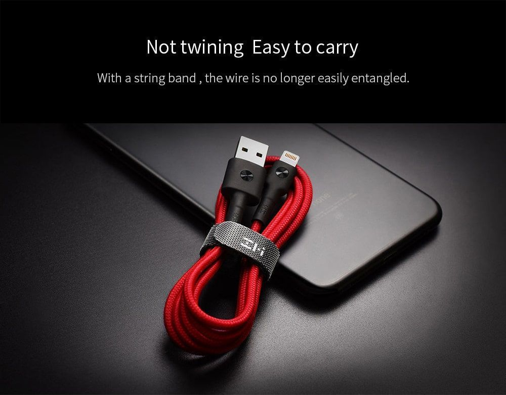 کابل شارژ (تبدیل) USB به لایتنینگ شیائومی مدل ZMI AL833 به طول 2 متر